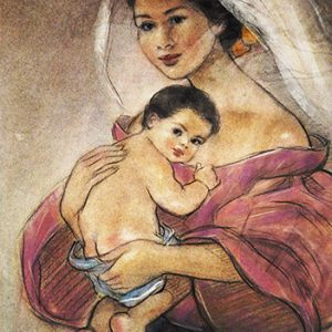 Code:18440 Title:Mother and Child Size:14.5x11 Medium:PP