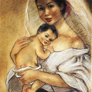 Code:18442 Title:Mother and Child Size:14.5x11 Medium:PP