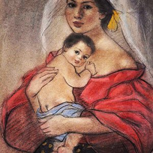 Code:18513 Title:Mother and Child Size:14.5x11 Medium:PP