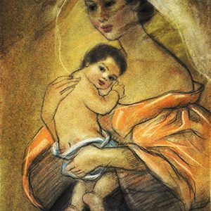 Code:18789 Title:Mother and Child Size:14.5x11 Medium:PP