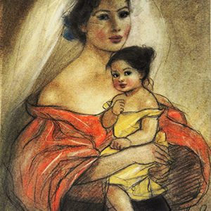 Code:18790 Title:Mother and Child Size:14.5x11 Medium:PP