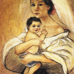 Code:18791 Title:Mother and Child Size:14.5x11 Medium:PP