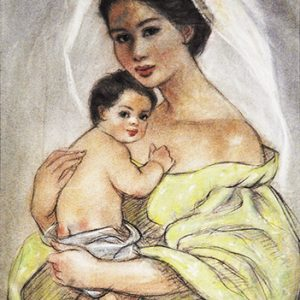 Code:18794 Title:Mother and Child Size:14.5x11 Medium:PP