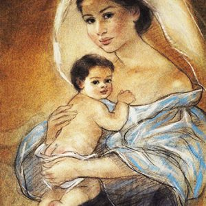 Code:18795 Title:Mother and Child Size:14.5x11 Medium:PP