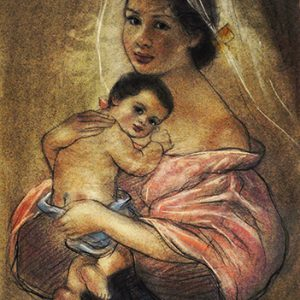 Code:18796 Title:Mother and Child Size:14.5x11 Medium:PP