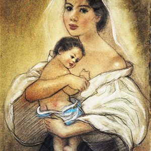 Code:18797 Title:Mother and Child Size:14.5x11 Medium:PP
