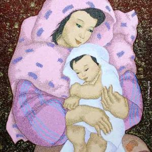 Code:16340 Title:Mother and Child Size:32x24 Medium:OC
