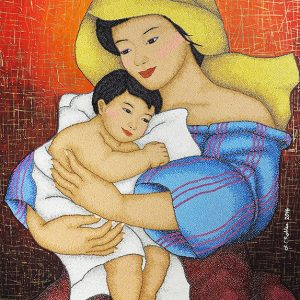 Code:16386 Title:Mother and Child Size:32x24 Medium:OC
