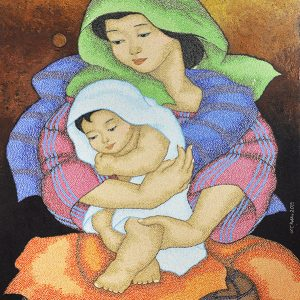 Code:16888 Title:Mother and Child Size:32x24 Medium:OC