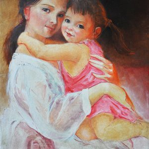 Code:17246 Title:Mother and child Size:20x15 Medium:OC