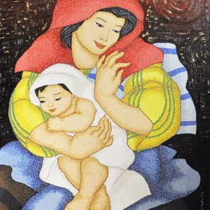 Code:17406 Title:Mother and Child Size:32x24 Medium:OC