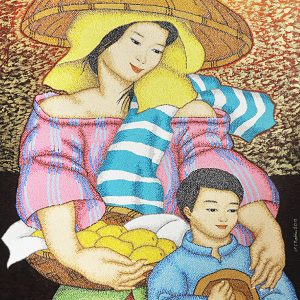 Code:17925 Title:Mother and Child Size:32x24 Medium:OC