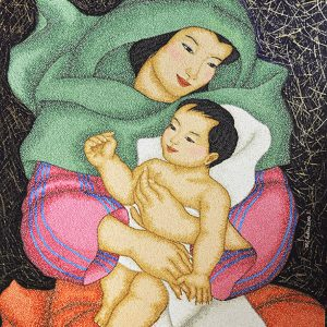 Code:17942 Title:Mother and Child Size:32x24 Medium:OC