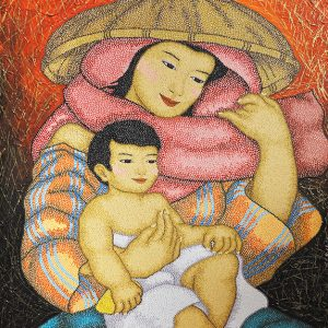 Code:18189 Title:Mother and Child Size:30x24 Medium:OC