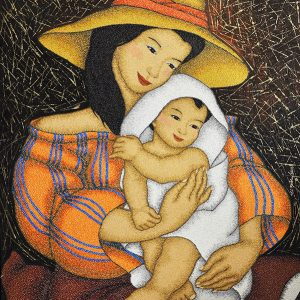 Code:18272 Title:Mother and Child Size:32x24 Medium:OC