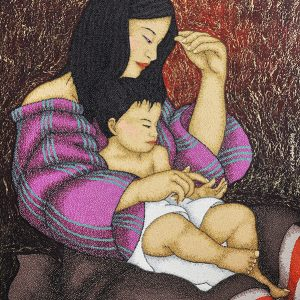 Code:18305 Title:Mother and Child Size:32x24 Medium:OC
