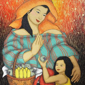 Code:18366 Title:Mother and Child Size:30x40 Medium:OC