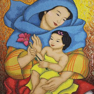Code:18478 Title:Mother and Child Size:32x24 Medium:OC