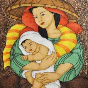 Code:18593 Title:Mother and Child Size:30x24 Medium:OC
