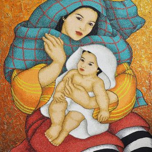 Code:18623 Title:Mother and Child Size:32x24 Medium:OC