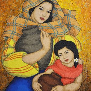 Code:18665 Title:Mother and Child Size:32x24 Medium:OC
