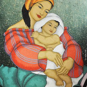 Code:18801 Title:Mother and Child Size:32x24 Medium:OC