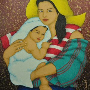 Code:18835 Title:Mother and Child Size:32x24 Medium:OC