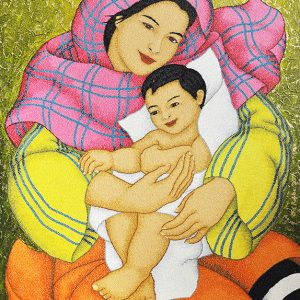 Code:18933 Title:Mother and Child Size:32x24 Medium:OC