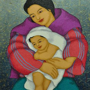 Code:18982 Title:Mother and Child Size:32x24 Medium:OC