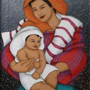 Code:19159 Title:Mother and Child Size:32x24 Medium:OC