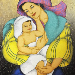 Code:19206 Title:Mother and Child Size:32x24 Medium:OC