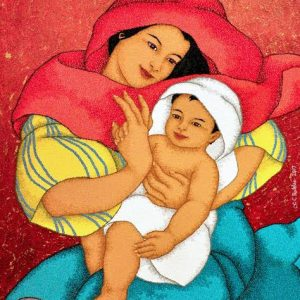 Code:19287 Title:Mother and Child Size:32x24 Medium:OC