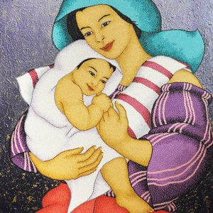 Code:19337 Title:Mother and Child Size:32x24 Medium:OC