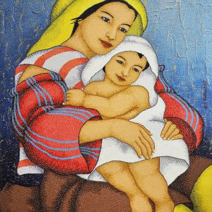 Code:19487 Title:Mother and Child Size:32x24 Medium:OC