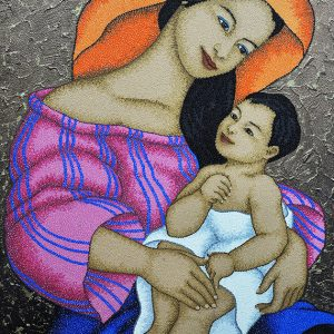 Code:19517  Title:Mother and Child Size:32x24 Medium:OC