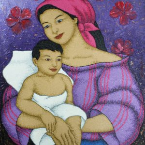 Code:19674 Title:Mother and Child Size:32x24 Medium:OC