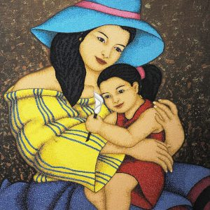 Code:19689 Title:Mother and Child Size:32x24 Medium:OC