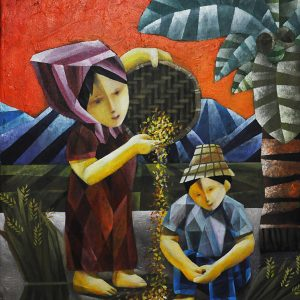Code: 19850 Title: Mother and Child Size: 24x18in Medium: Acrylic on Canvas