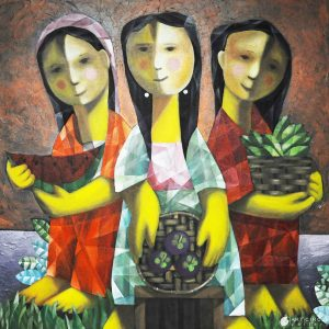 Code: 19851 Title: Tres Marias Size: 30x30in Medium: Acrylic on Canvas
