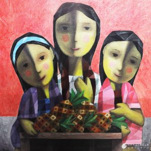 Code: 19919 Title: Tres Marias Size: 20x20in Medium: Acrylic on Canvas