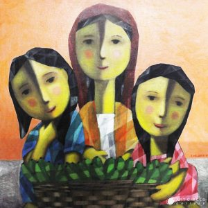 Code: 19920 Title: Tres Marias Size: 20x20in Medium: Acrylic on Canvas