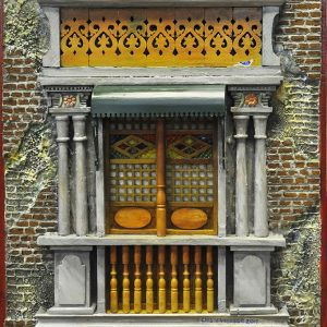 Code: 19965 Title: Old Window with Canopy Size: 22x18 in Medium: Mixed Media