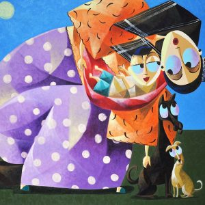 Code: 20406 Title: Dog Lover's Size: 30x36 Medium: Acrylic on Canvas
