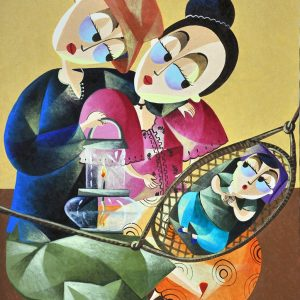 Code: 20493 Title: Family Size: 30x24 Medium: Oil on Canvas
