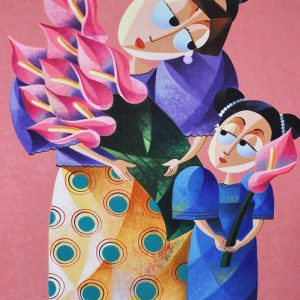 Code: 20717 Title: Mother and Daughter Size: 36x24in Medium: Oil on Canvas