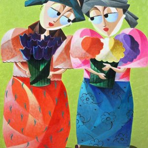 Code: 20718 Title: Sisters Size: 36x24in Medium: Oil on Canvas