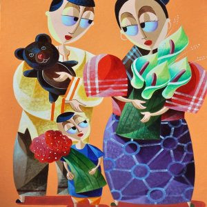 Code: 20753 Title: Bunso Size: 36x24in Medium: Oil on Canvas