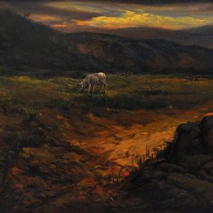 Code: 22082 Title: Country Cow Series 3 Size: 24 x 36 in Medium : Oil on Canvas