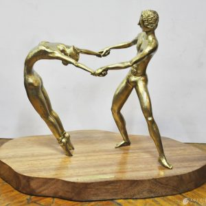 Code: 19995 Title: Balerina Dance Couple Size: 11x14.5x9 in Medium: Sculpture