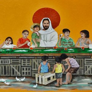 Code: 20705 Title: Last Supper Size: 33x56in. Medium: Acrylic On Canvas